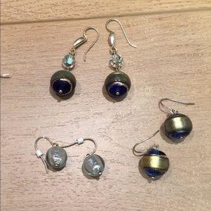 Jewelry - Murano glass bead earring bundle